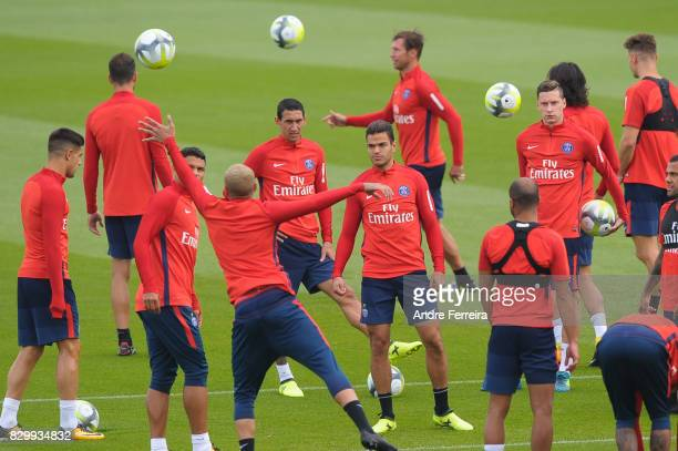 Hatem Ben Arfa of PSG during the training session of Paris Saint Germain on August 11 2017 in Paris France