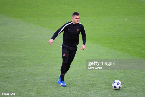 Hatem Ben Arfa of PSG during the training session of Paris Saint Germain before the Champions League game against Barcelona at Camp Nou on March 7...