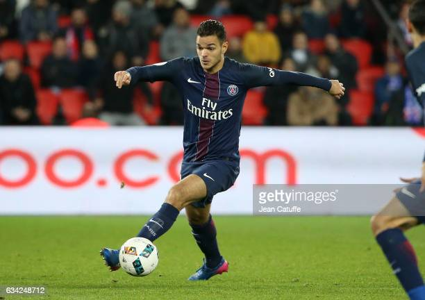 Hatem Ben Arfa of PSG in action during the French Ligue 1 match between Paris SaintGermain and Lille OSC at Parc des Princes stadium on February 7...