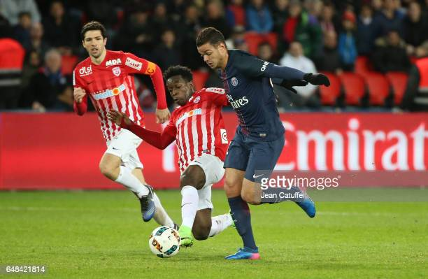 Hatem Ben Arfa of PSG in action during the French Ligue 1 match between Paris Saint Germain and AS Nancy Lorraine at Parc des Princes stadium on...