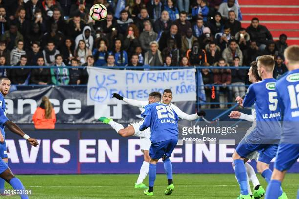 Hatem Ben Arfa of PSG scores a goal during the French National Cup Quarter Final match between Us Avranches and Paris Saint Germain at Stade Michel...