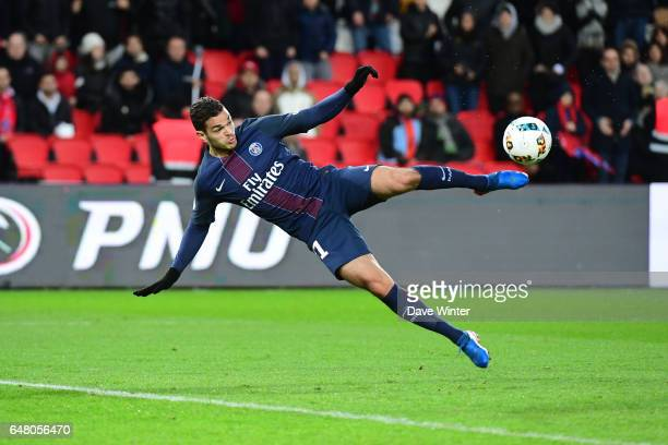 Hatem Ben Arfa of PSG tries an acrobatic volley during the French Ligue 1 match between Paris Saint Germain and Nancy at Parc des Princes on March 4...