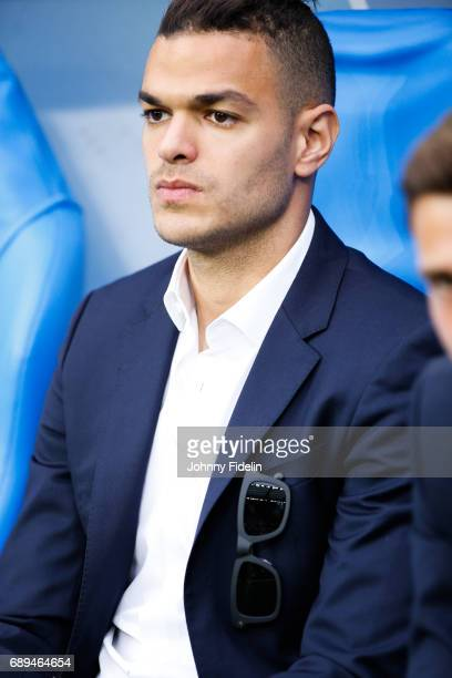 Hatem Ben Arfa of PSG who was not selected for the squad before the National Cup Final match between Angers SCO and Paris Saint Germain PSG at Stade...