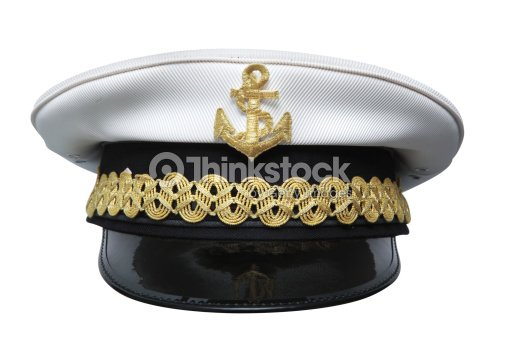 9cc33b92fca Hats Captains Cap Isolated On White Background Stock Photo