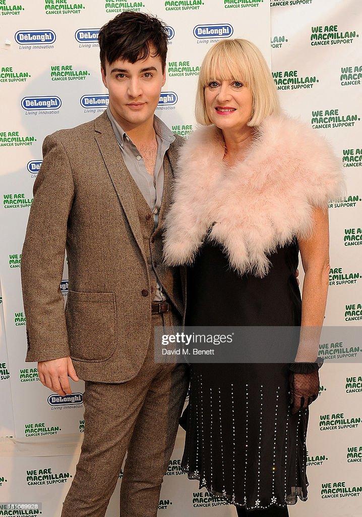 Hattie Hayridge (R) and Jos Vantyler attend the Macmillan De'Longhi Art Auction at Royal College of Art on September 23, 2013 in London, England.