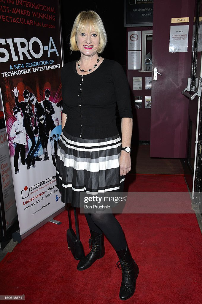 Hattie Hayridge attends the press night for Siro-A show, described as Japan's version of the Blue Man Group at Leicester Square Theatre on February 4, 2013 in London, England.