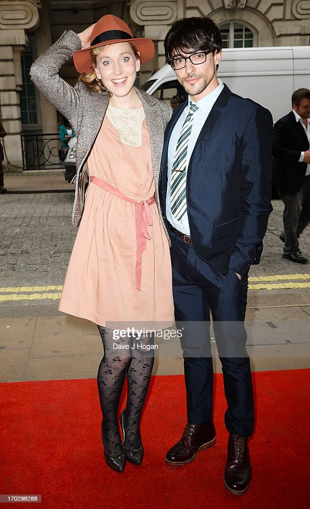 Hattie Morahan and Blake Ritson attend a gala screening of 'Summer In February' at The Curzon Mayfair on June 10, 2013 in London, England.