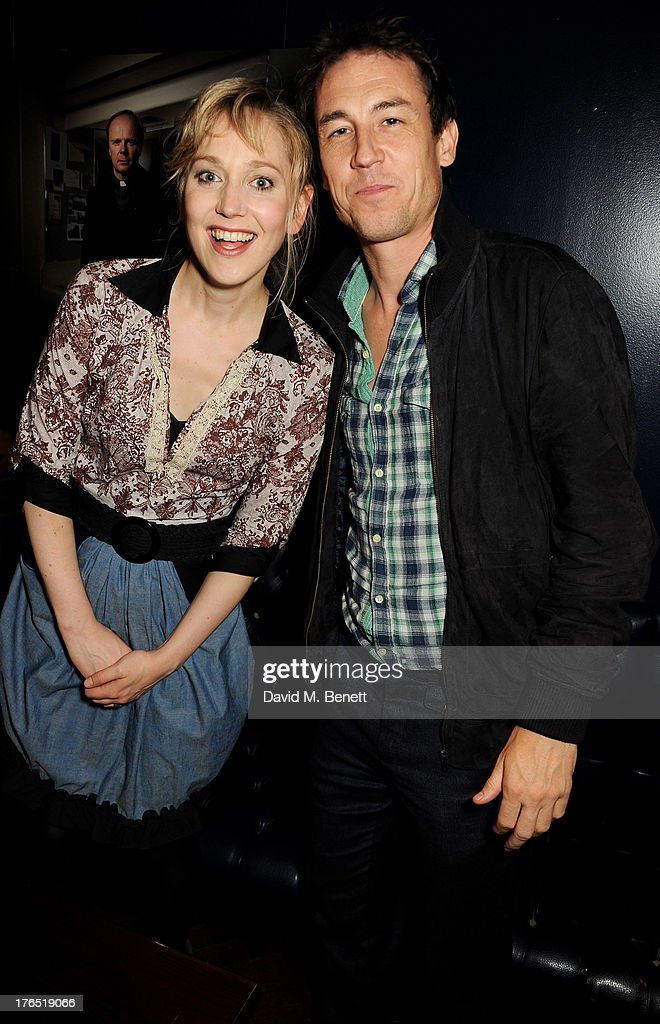 Hattie Morahan (L) and guest attend an after party following the press night performance of 'A Doll's House' at The Hospital Club on August 14, 2013 in London, England.