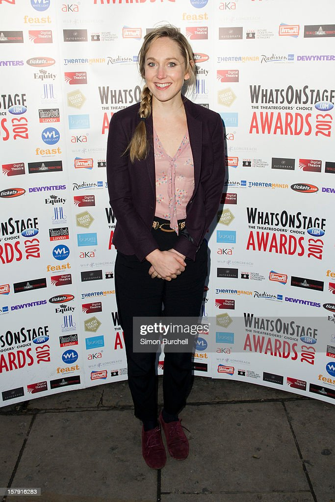 Hattie Morahan attends the Whatsonstage.com Theare Awards nominations launch at Cafe de Paris on December 7, 2012 in London, England.