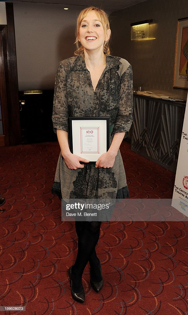 Hattie Morahan, winner of Best Actress, attends the 2013 Critics' Circle Theatre Awards at the Prince Of Wales Theatre on January 15, 2013 in London, England.