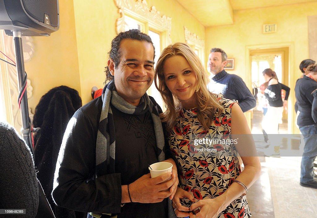 Hatuey Viveros Lavielle and Jordana Spiro attend the SAGIndie Brunch at Cafe Terigo on January 21, 2013 in Park City, Utah.