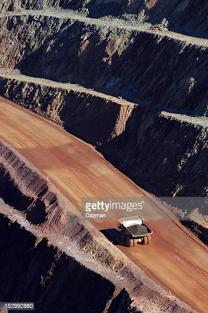 Haul truck carrying ore in a minesite