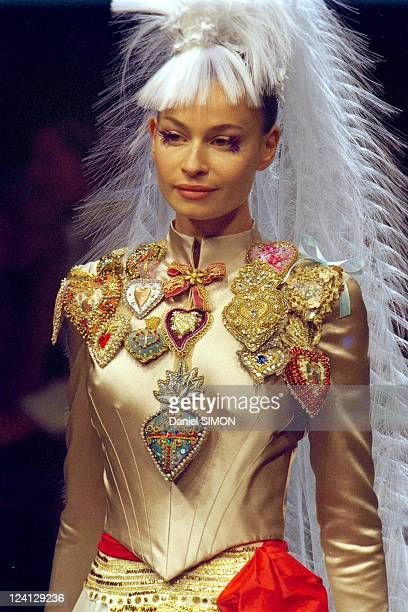 Haute Couture fall winter 1999 2000 Fashion show In Paris France On July 15 1999 Christian Lacroix