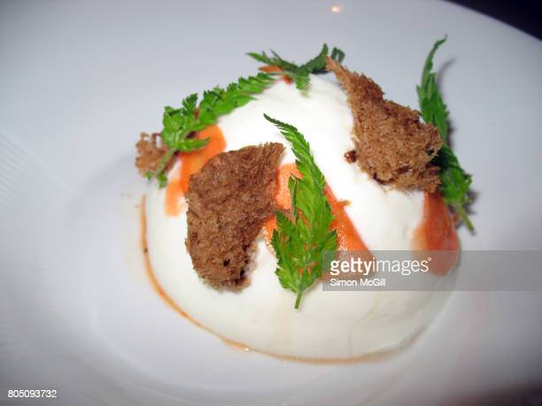 Haute cuisine food in a restaurant in London, England, United Kingdom
