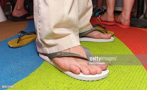 Havaianas during MercedesBenz Fashion Week Swim at the Raleigh Hotel on July 20 2008 in Miami Florida