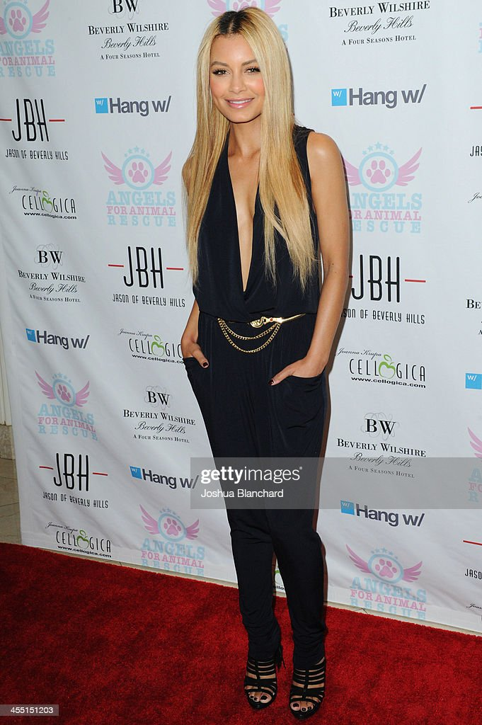 DJ <a gi-track='captionPersonalityLinkClicked' href=/galleries/search?phrase=Havana+Brown&family=editorial&specificpeople=4456474 ng-click='$event.stopPropagation()'>Havana Brown</a> arrives at Angels For Animal Rescue benefit hosted by Joanna Krupa at the Beverly Wilshire Four Seasons Hotel on December 10, 2013 in Beverly Hills, California.
