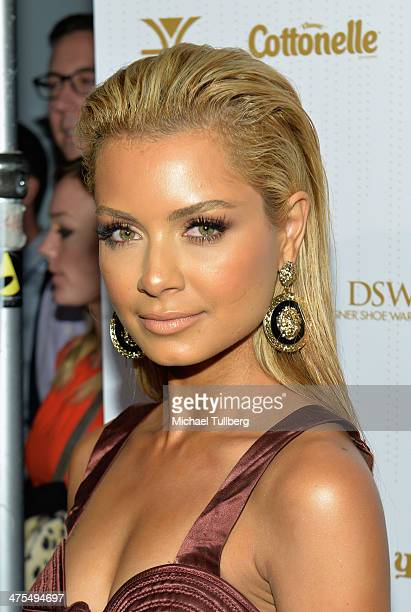 havana brown attends ok magazines preoscar party at greystone manor supperclub on february 27 2014 in
