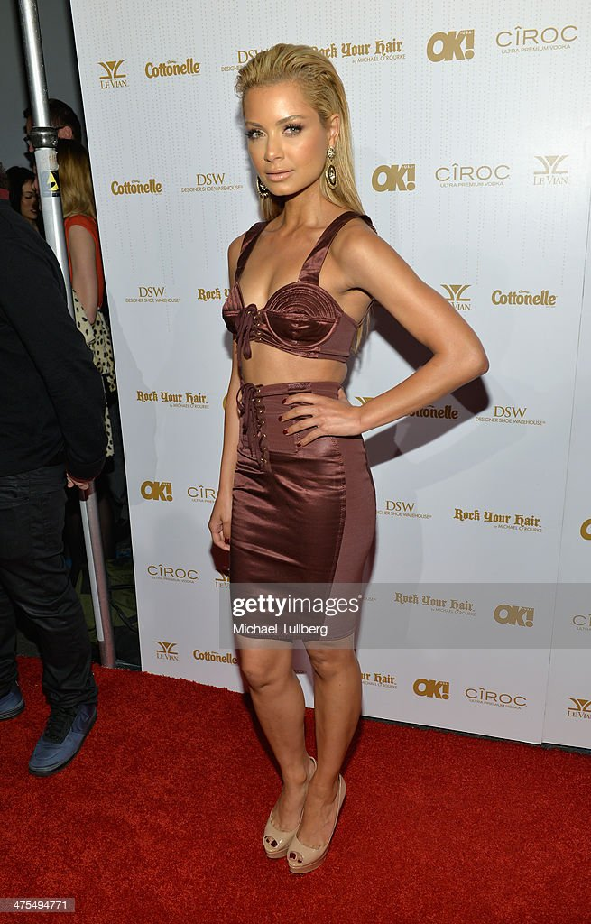 DJ <a gi-track='captionPersonalityLinkClicked' href=/galleries/search?phrase=Havana+Brown&family=editorial&specificpeople=4456474 ng-click='$event.stopPropagation()'>Havana Brown</a> attends OK! Magazine's Pre-Oscar Party at Greystone Manor Supperclub on February 27, 2014 in West Hollywood, California.