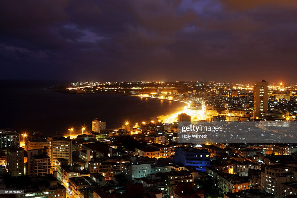 Havana Evening Landscape, Cuba. : Stock Photo