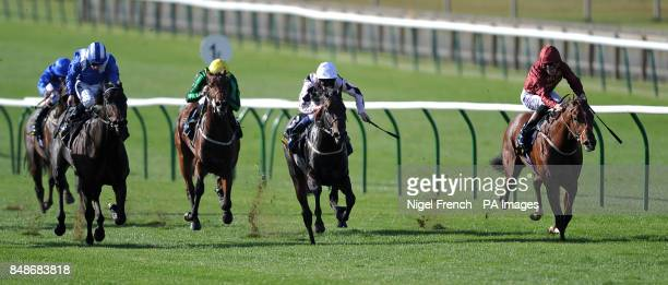 Havana Gold ridden by Richard Hughes goes onto win The Somerville Tattersall Stakes during day one of The Cambridgeshire Festival at Newmarket...