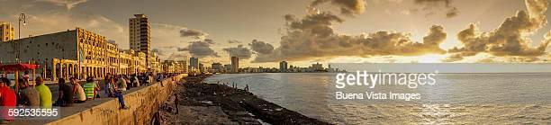 Havana. Panoramic view of El Malecon.