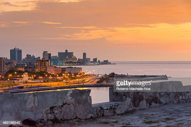 Havana skyline in the afternoon hours seen from the colonial fortress of El Morro Havana is the capital of Cuba and a tourist landmark
