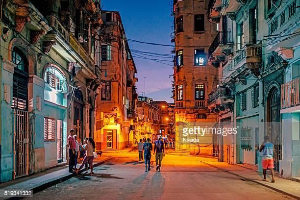 Havana street by night