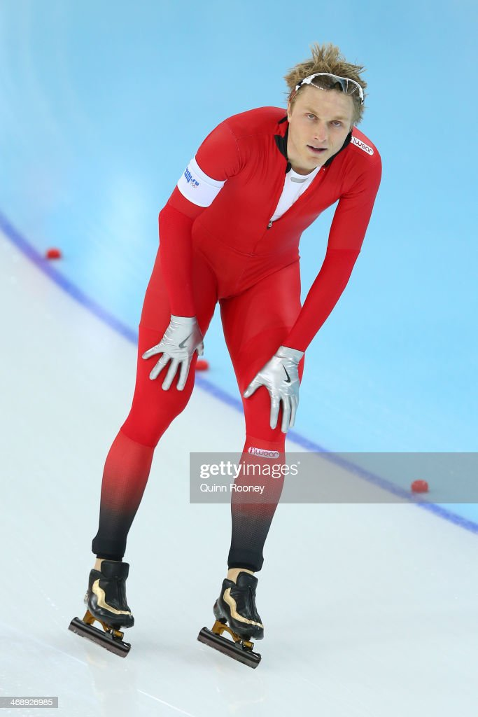 <a gi-track='captionPersonalityLinkClicked' href=/galleries/search?phrase=Havard+Bokko&family=editorial&specificpeople=725769 ng-click='$event.stopPropagation()'>Havard Bokko</a> of Norway competes during the Men's 1000m Speed Skating event during day 5 of the Sochi 2014 Winter Olympics at at Adler Arena Skating Center on February 12, 2014 in Sochi, Russia.
