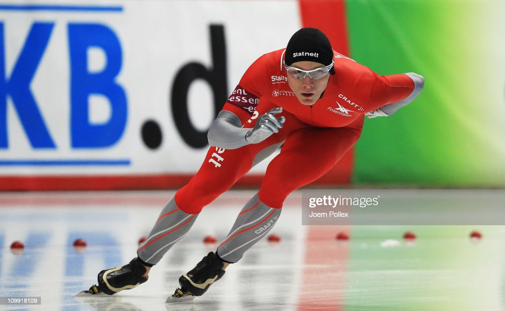 <a gi-track='captionPersonalityLinkClicked' href=/galleries/search?phrase=Havard+Bokko&family=editorial&specificpeople=725769 ng-click='$event.stopPropagation()'>Havard Bokko</a> of Norway competes in the 1500m heats during Day 1 of the Essent ISU Speed Skating World Cup at the Max Aicher Arena on March 10, 2011 in Inzell, Germany.