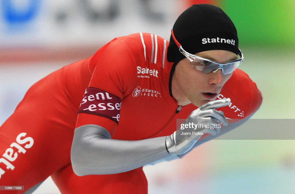 <a gi-track='captionPersonalityLinkClicked' href=/galleries/search?phrase=Havard+Bokko&family=editorial&specificpeople=725769 ng-click='$event.stopPropagation()'>Havard Bokko</a> of Norway competes in the 3000m heats during Day 1 of the Essent ISU Speed Skating World Cup at the Max Aicher Arena on March 10, 2011 in Inzell, Germany.