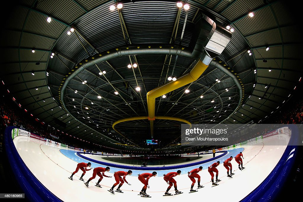 <a gi-track='captionPersonalityLinkClicked' href=/galleries/search?phrase=Havard+Bokko&family=editorial&specificpeople=725769 ng-click='$event.stopPropagation()'>Havard Bokko</a> of Norway competes in the mens 10000m race during day two of the Essent ISU World Allround Speed Skating Championships at the Thialf Stadium on March 23, 2014 in Heerenveen, Netherlands.
