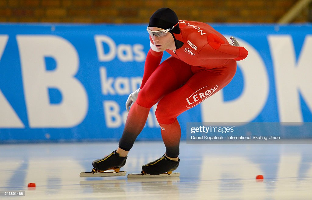 <a gi-track='captionPersonalityLinkClicked' href=/galleries/search?phrase=Havard+Bokko&family=editorial&specificpeople=725769 ng-click='$event.stopPropagation()'>Havard Bokko</a> of Norway competes the Men 5000 M during day one of ISU Allround Speed Skating World Championship on March 5, 2016 in Berlin, Germany.