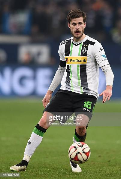 Havard Nordtveit of Borussia Moenchengladbach controls the ball during the Bundesliga match between FC Schalke 04 and Borussia Moenchengladbach at...