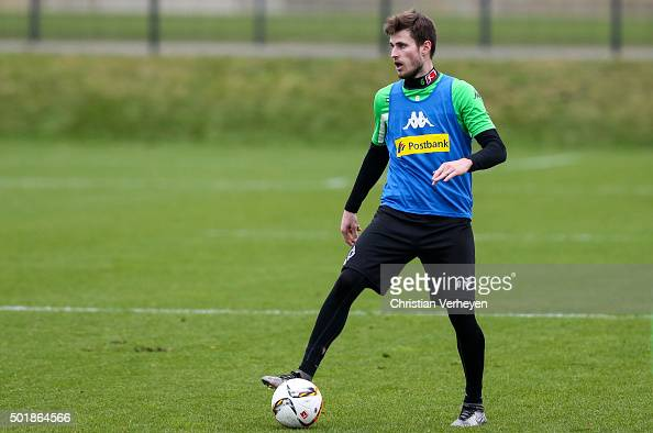 Havard Nordtveit of Borussia Moenchengladbach during a training session at BorussiaPark on December 18 2015 in Moenchengladbach Germany