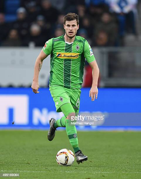Havard Nordtveit of Gladbach controls the ball during the Bundesliga match between 1899 Hoffenheim and Borussia Moenchengladbach at Wirsol...