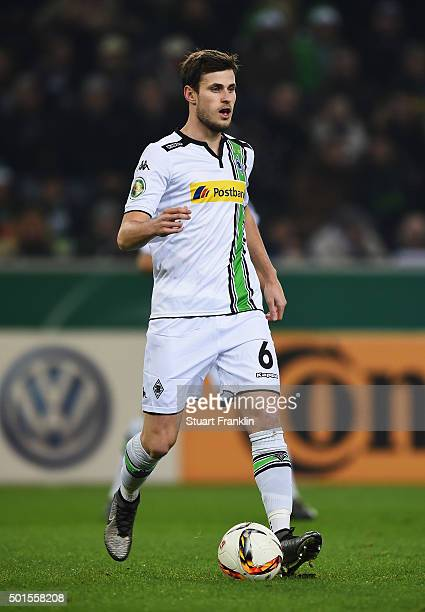 Havard Nordtveit of Gladbach in action during the DFB Pokal match between Borussia Moenchengladbach and Werder Bremen at BorussiaPark on December 15...