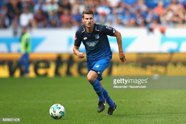 Havard Nordtveit of Hoffenheim runs with the ball during the Bundesliga match between TSG 1899 Hoffenheim and SV Werder Bremen at Wirsol...