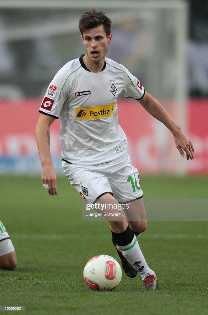 Havard Nordtveit of Moenchengladbach controls the ball during the Bundesliga match between Borussia Moenchengladbach and VfB Stuttgart at Borussia Park Stadium on November 17, 2012 in Moenchengladbach, Germany.