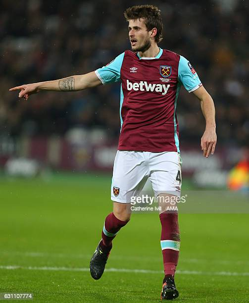Havard Nordtveit of West Ham during the Emirates FA Cup Third Round match between West Ham United and Manchester City at London Stadium on January 6...
