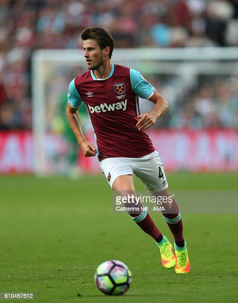 Havard Nordtveit of West Ham during the Premier League match between West Ham United and Southampton at London Stadium on September 25 2016 in...