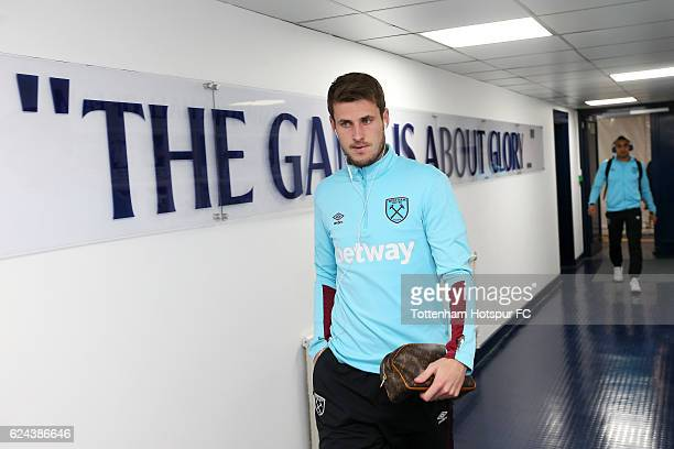 Havard Nordtveit of West Ham United arrives for the Premier League match between Tottenham Hotspur and West Ham United at White Hart Lane on November...