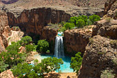 Havasu Falls Oasis in the middle of the Arizona Desert