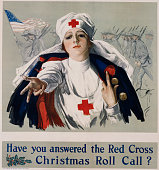 Have You Answered the Red Cross Christmas Roll Call Poster by Harrison Fisher