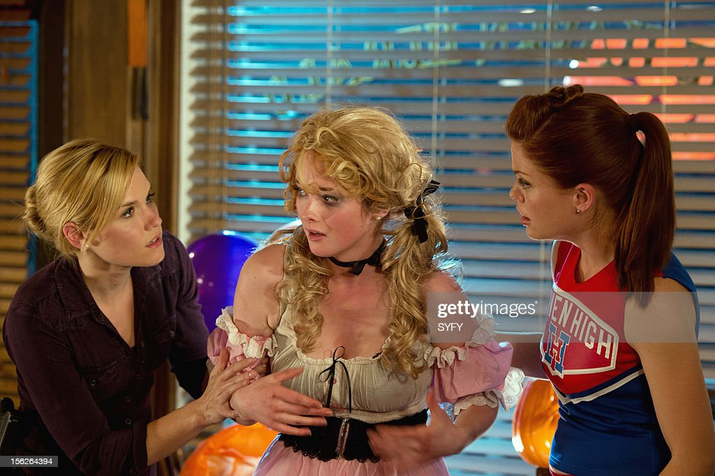 Haven -- 'Real Estate' Episode 306 -- Pictured: (l-r) Emily Rose as Audrey Parker, Allie MacDonald as Tina, Bree Williamson as Claire Callahan --