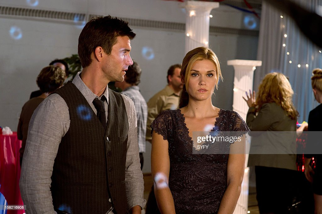 Haven -- 'Reunion' Episode 312 -- Pictured: (l-r) Lucas Bryant as Nathan Wuornos, Emily Rose as Audrey Parker --