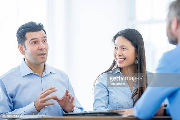 Having a Discussion in the Office