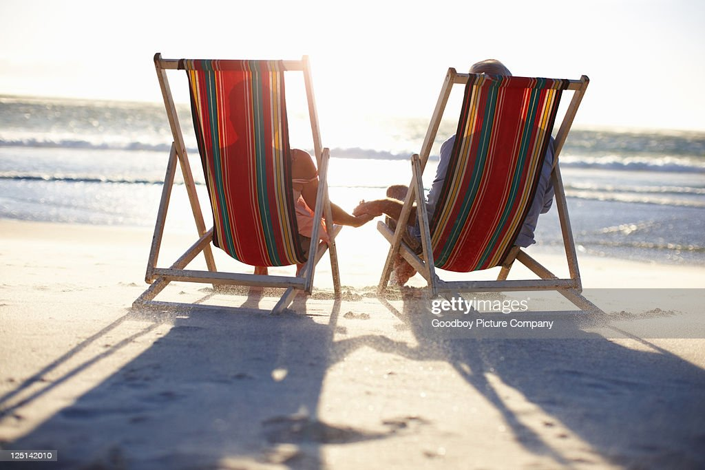 Having a great time on the beach : Stock Photo