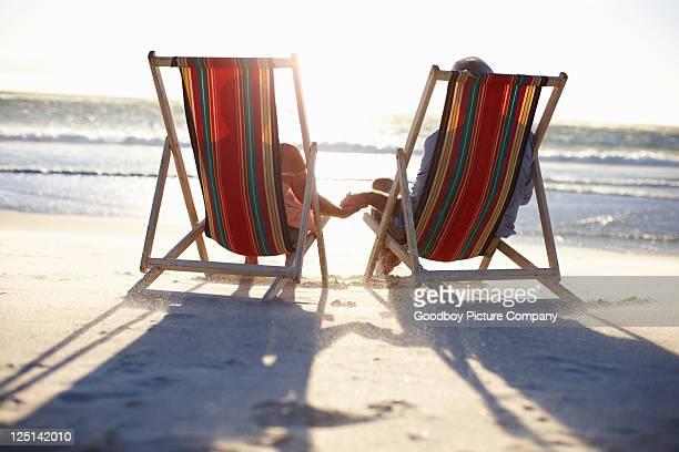 Sie eine wunderbare Zeit am Strand.