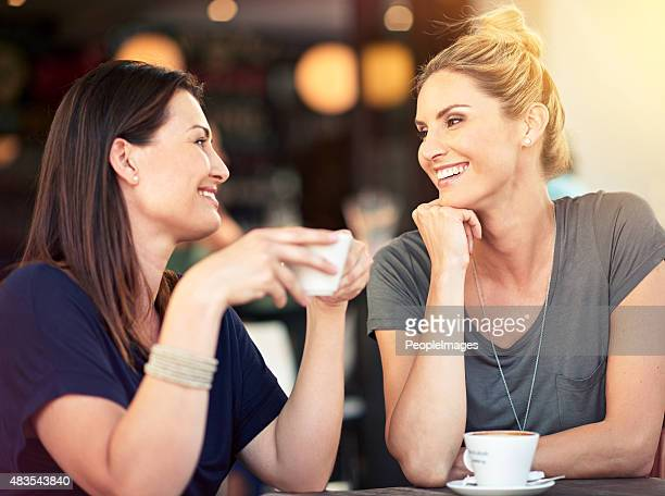 Having a heart-to-heart over coffee