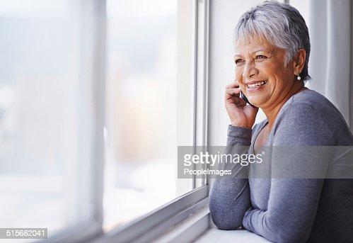 Avere una bella parlare con un amico di vecchia data